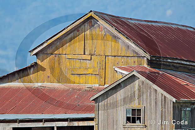 Photoof a weathered barn along Highway 116.